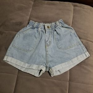 Vintage Shorts - Vintage elastic waist denim shorts!